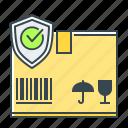 box, cargo, cargo protection, commerce, e-commerce, protection, shopping icon