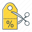 commerce, coupon, discount, shopping, stock icon