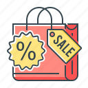 bag, commerce, e-commerce, promotion, promotion sale, sale, shopping icon