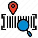 tracking, code, barcode, location, marker, pin, service