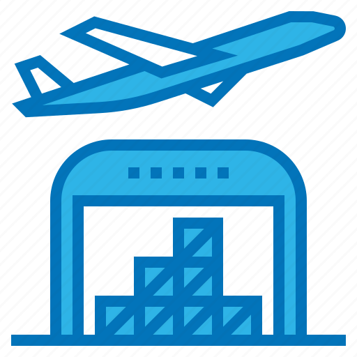 airplane, ecommerce, shipping, transport, warehouse icon