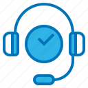 call, center, ecommerce, operator, support, time icon