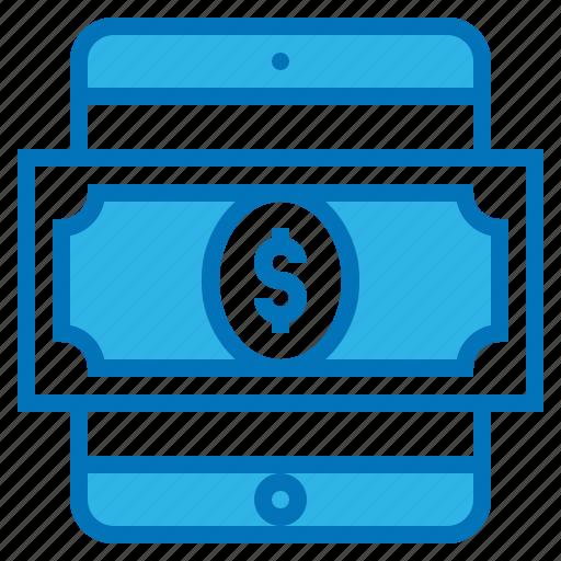 cash, digital, ecommerce, tablet, wallet icon