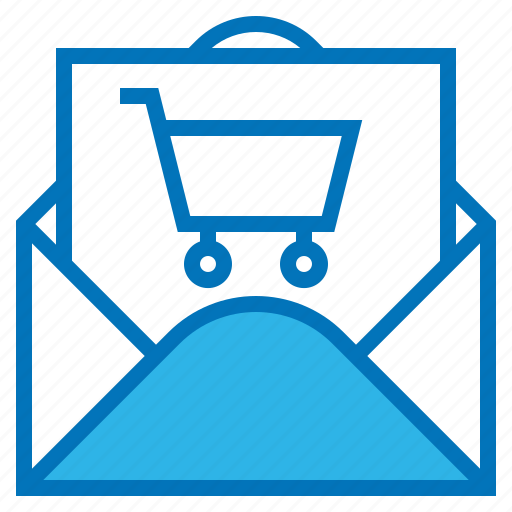 cart, ecommerce, email, shopping, subscription icon