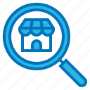 ecommerce, house, magnifier, search, shop icon