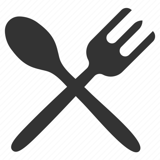 food, fork, fork and spoon, spoon icon