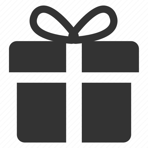 gift box, package, present, wrapped gift icon