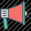 color, ecommerce, horn, loudspeaker, microphone, music, sound