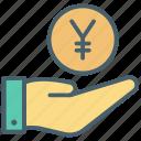 cash, color, donation, ecommerce, money, online, shopping icon