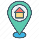 color, ecommerce, gps, location, map, navigation, pin icon
