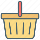 basket, bucket, cart, color, ecommerce, store, trolley icon
