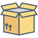 box, bucket, color, ecommerce, package, shopping, transport icon