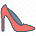 color, ecommerce, footwear, heels, high, shoe icon