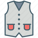clothes, coat, color, dressing, ecommerce, fashion, waistcoat icon