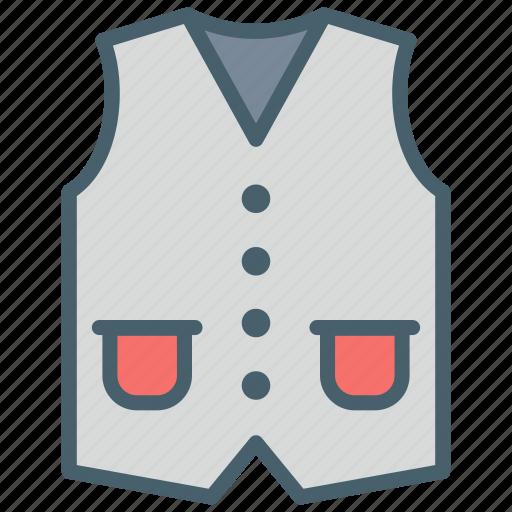 clothes, coat, color, dressing, ecommerce, fashion, waistcoat icon