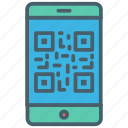 business, color, ecommerce, online, qr code, qr scan icon