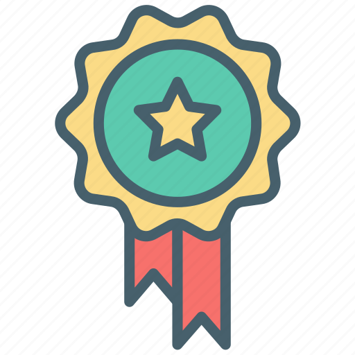 award, badge, color, ecommerce, medal, rank, trophy icon