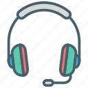 color, ecommerce, hands free, headphones, music, shopping, sound icon