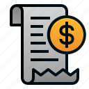 bill, business, dollar, ecommerce, finance, money, transaction icon