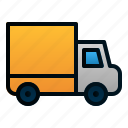 delivery, package, transportation, travel, truck icon