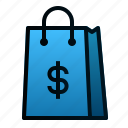 bag, business, ecommerce, finance, market, shopping icon
