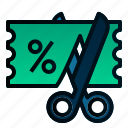 business, coupon, discount, ecommerce, finance, voucher icon