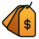 business, dollar, ecommerce, finance, pricetag, shopping icon