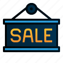 commerce, e, label, sale, shopping, signage icon