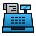 bills, business, cashier, finance, machine, shopping, transaction icon