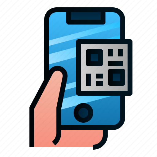business, ecommerce, finance, payment, phone, qr code, scan icon