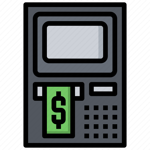 atm, business, cash, commerce, finance, shopping icon