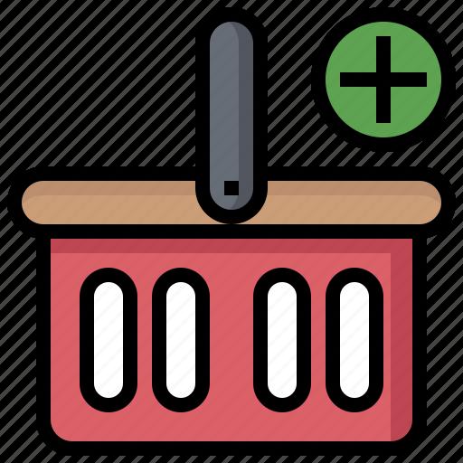 Add, basket, commerce, shapes, shopping, symbols icon - Download on Iconfinder