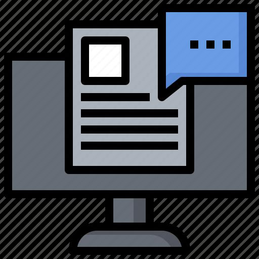 blogging, browser, communications, digital, marketing, options, website icon