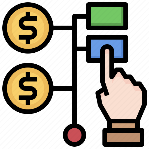 click, coin, cursor, mouse, pay, payment, per icon