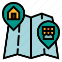 address, ecommerce, location, map, shopping icon