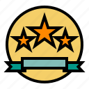 badge, ecommerce, rating, review, star icon