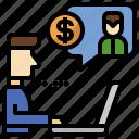 commerce, merchant, online, operator, seller, shopping, support