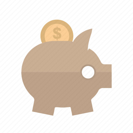 banking, coin, dollar, money, piggy bank, save, saving icon