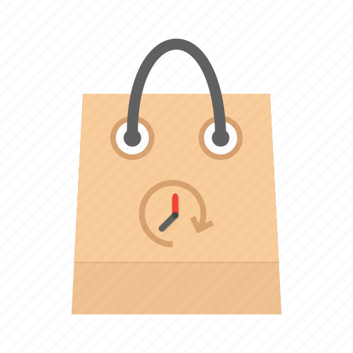 bag, hand carry, limited time offer, purchase, shop, shopping, timer icon