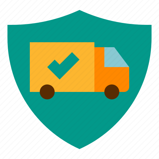 deliver, ecommerce, guaranteed, guard, support icon