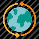 around, ecommerce, transportation, wide, world icon