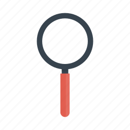 find, look, magnifier, search, zoom icon