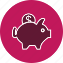 bank, piggy bank, savings icon