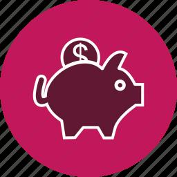 bank, money, piggy bank, savings icon