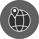 globe, pin, world icon