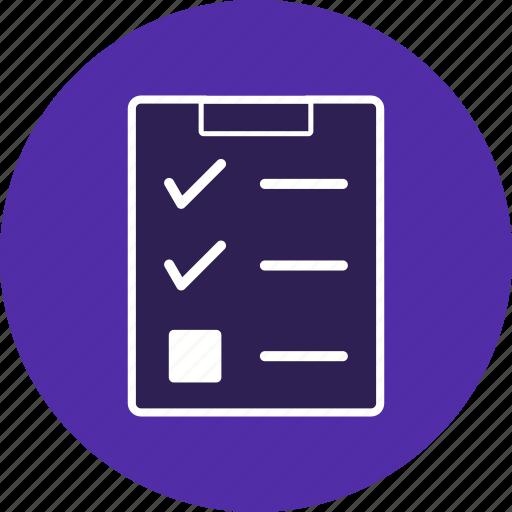 check, checklist, clipboard, graphic, list icon