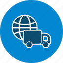 customer services, global delivery, shipping icon