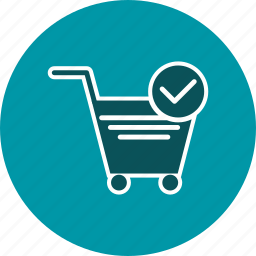 cart, trolley, verified cart items icon