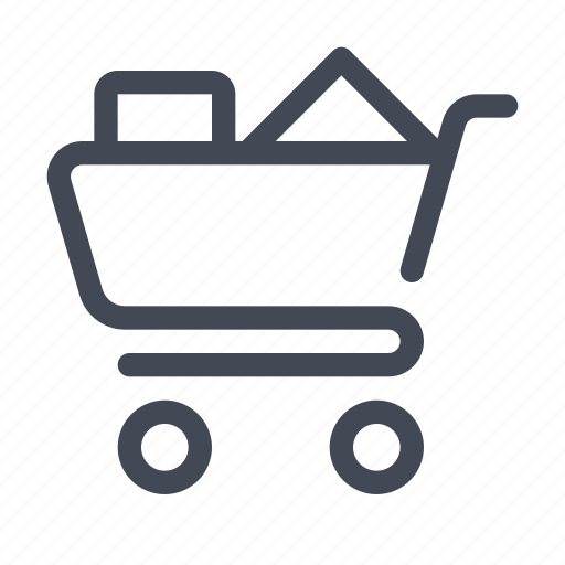 basket, cart, full shopping cart, shop, shopping icon