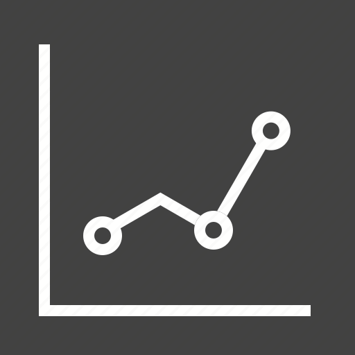 chart, graph, line, presentation, report, statistics, success icon